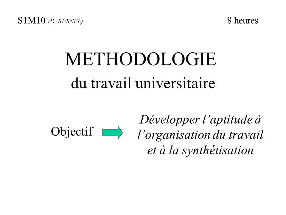 METHODOLOGIE du travail universitaire
