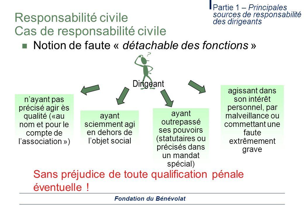 Responsabilité civile Cas de responsabilité civile