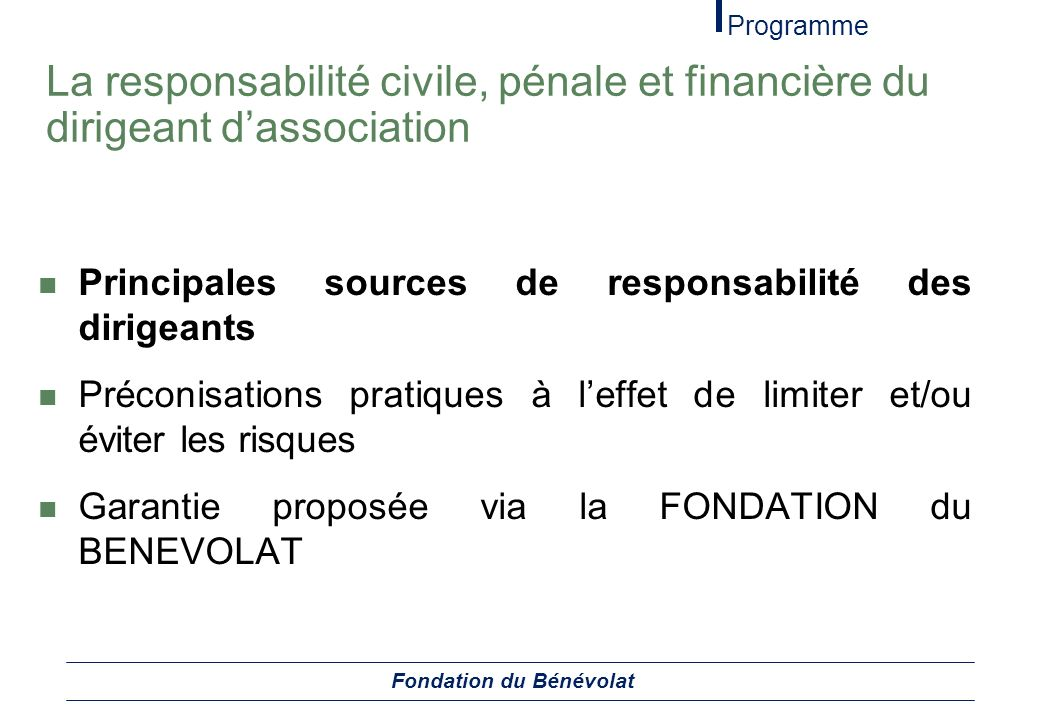Fondation du Bénévolat