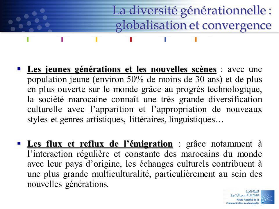 La diversité générationnelle : globalisation et convergence