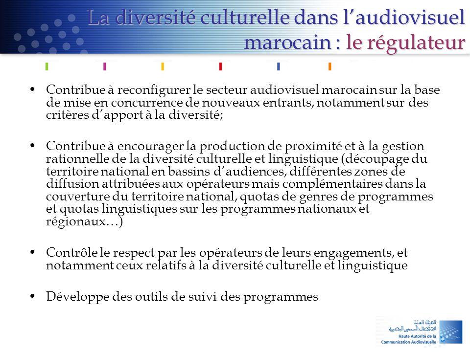 La diversité culturelle dans l'audiovisuel marocain : le régulateur