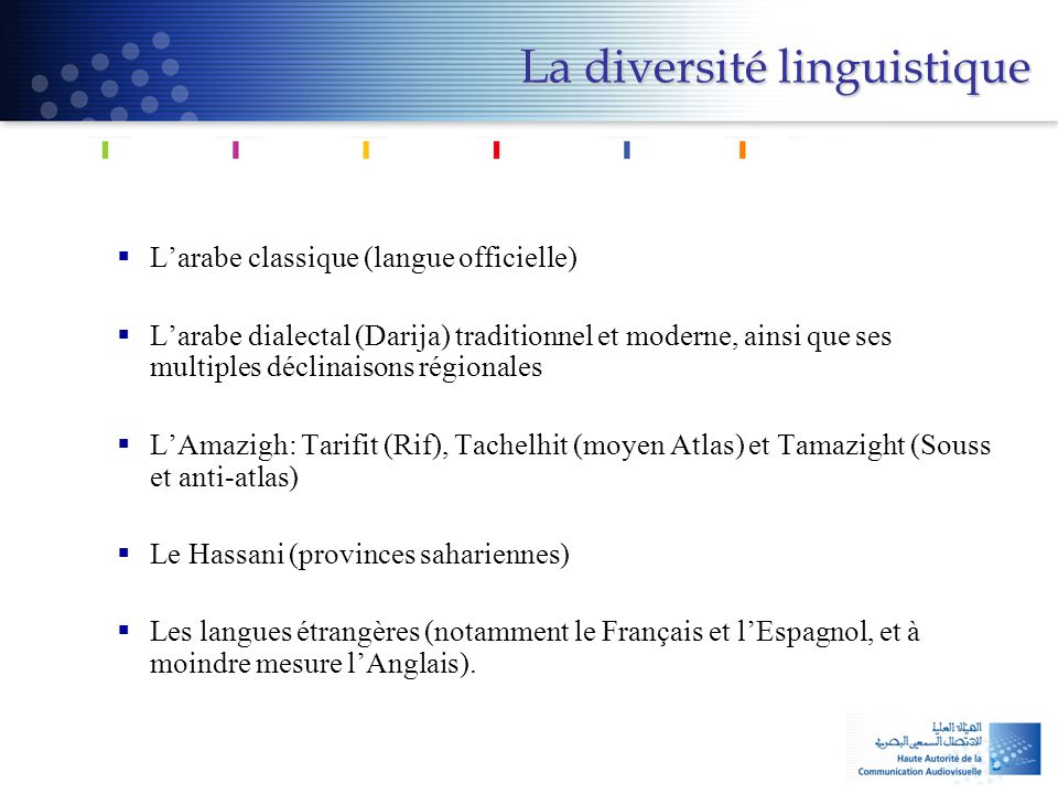 La diversité linguistique