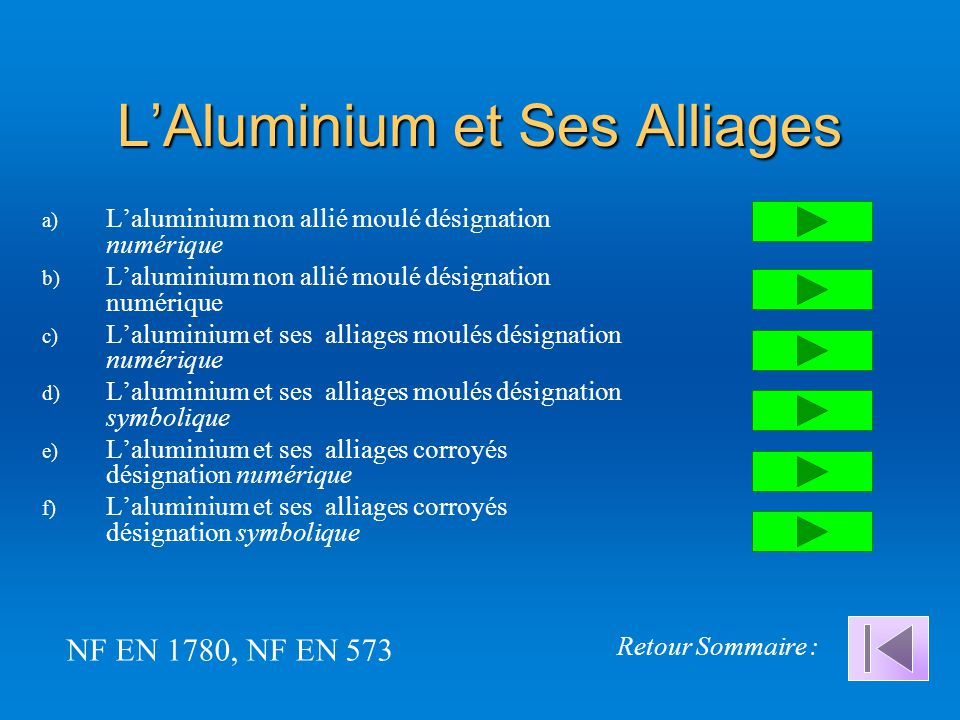 L'Aluminium et Ses Alliages