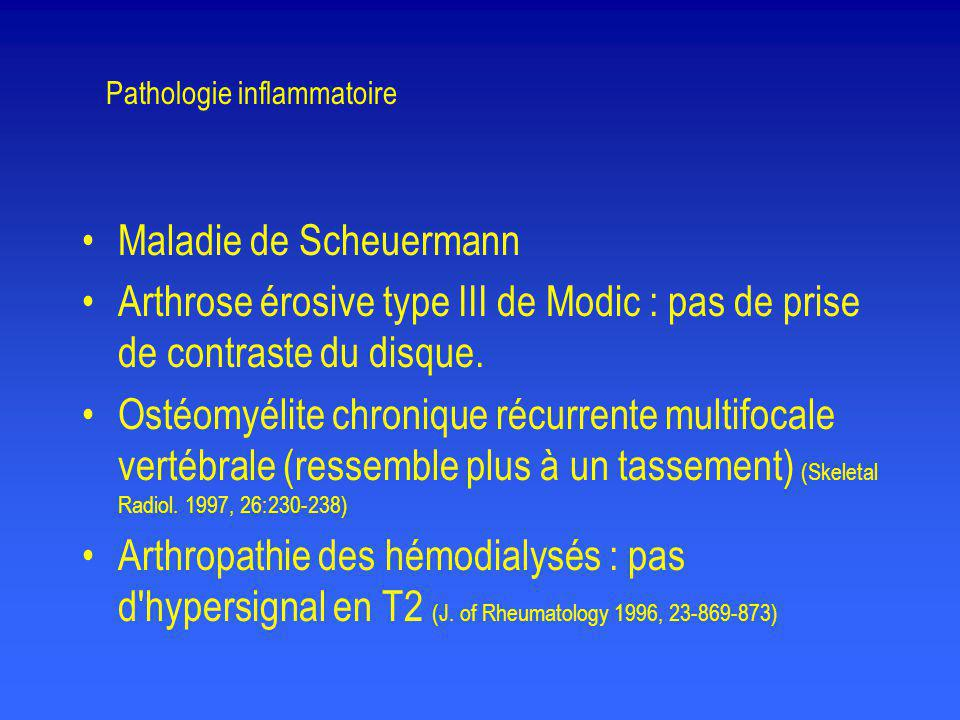 Pathologie inflammatoire