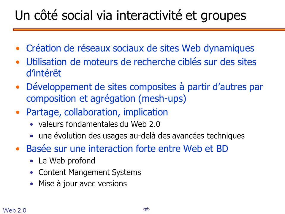 Un côté social via interactivité et groupes