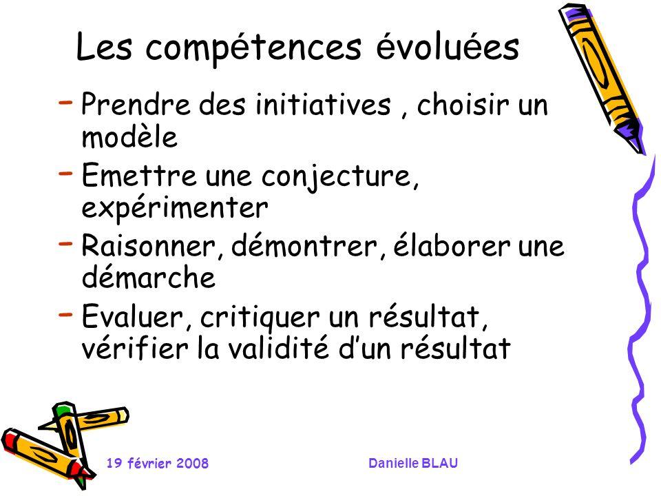 Les compétences évoluées