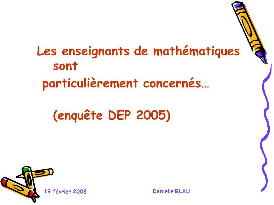 Les enseignants de mathématiques sont particulièrement concernés…