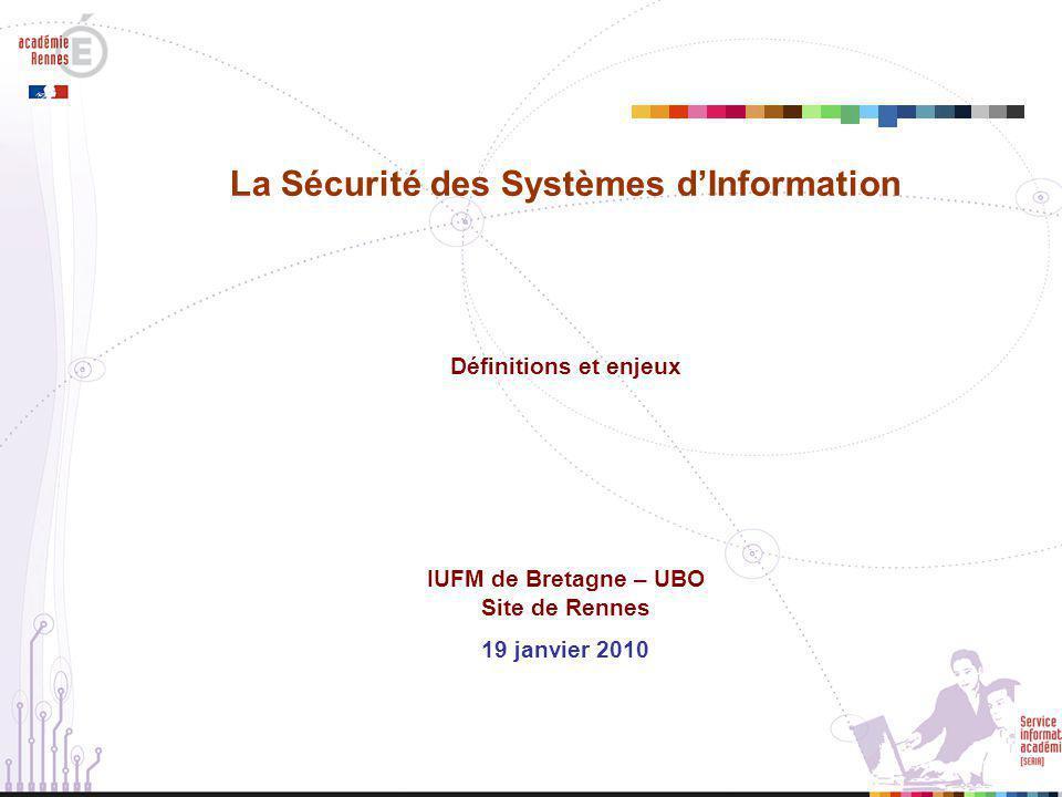 La Sécurité des Systèmes d'Information