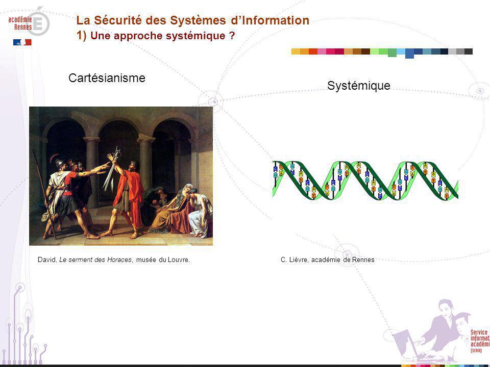 La Sécurité des Systèmes d'Information 1) Une approche systémique