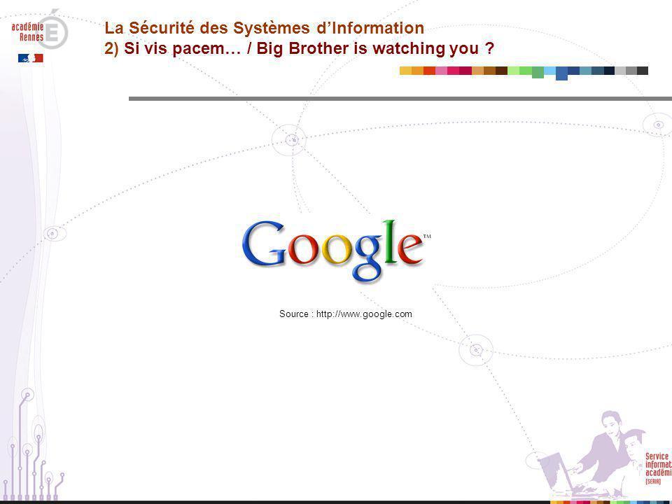 La Sécurité des Systèmes d'Information 2) Si vis pacem… / Big Brother is watching you