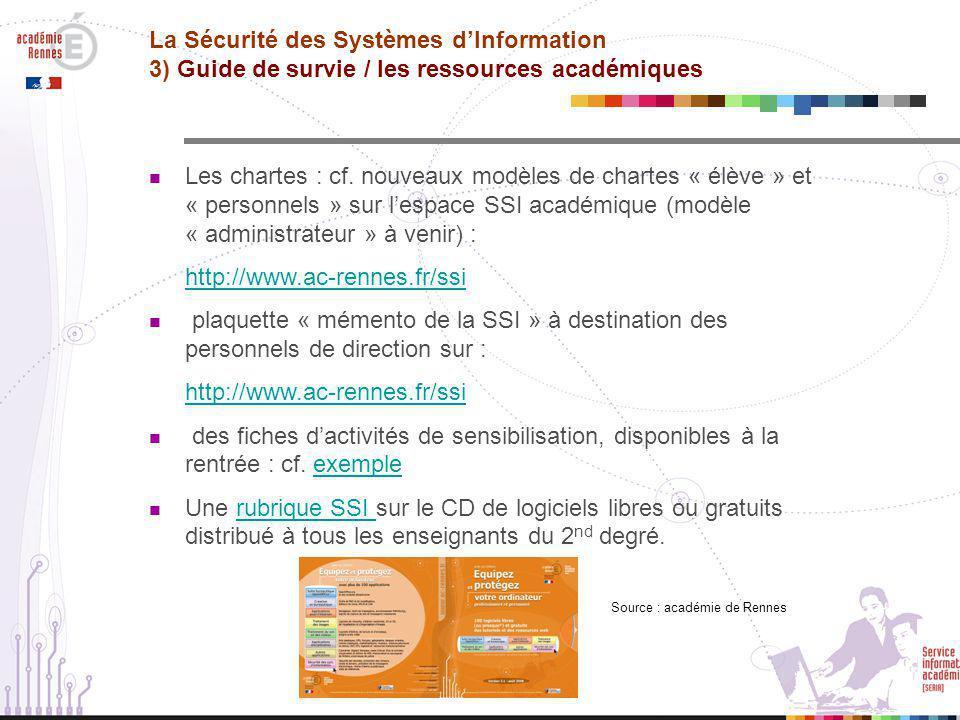 La Sécurité des Systèmes d'Information 3) Guide de survie / les ressources académiques