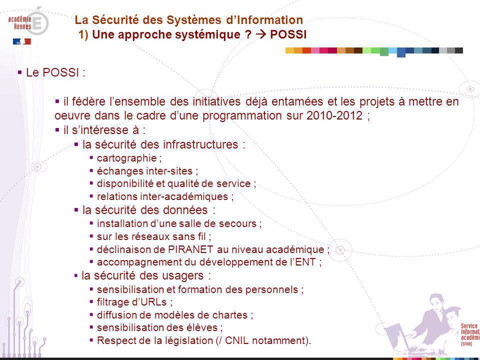la sécurité des infrastructures :