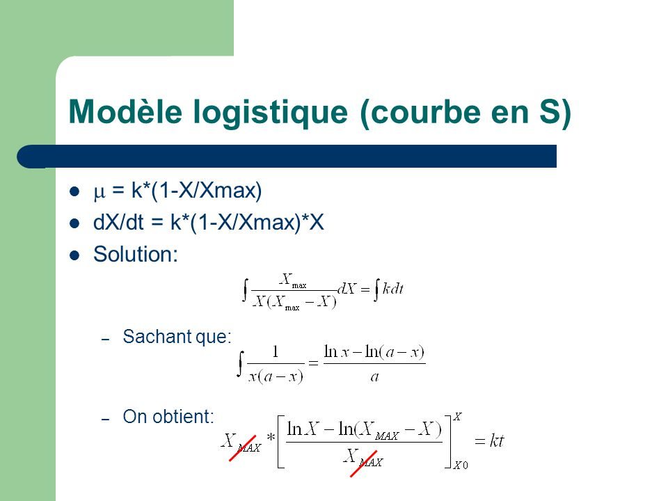 Modèle logistique (courbe en S)