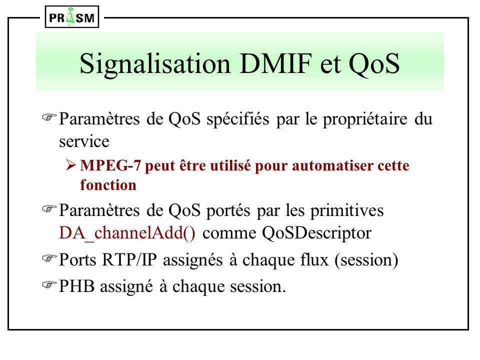 Signalisation DMIF et QoS