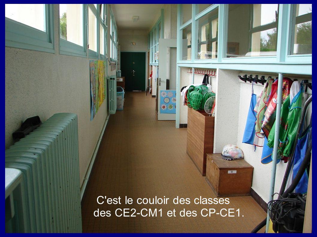 C est le couloir des classes des CE2-CM1 et des CP-CE1.