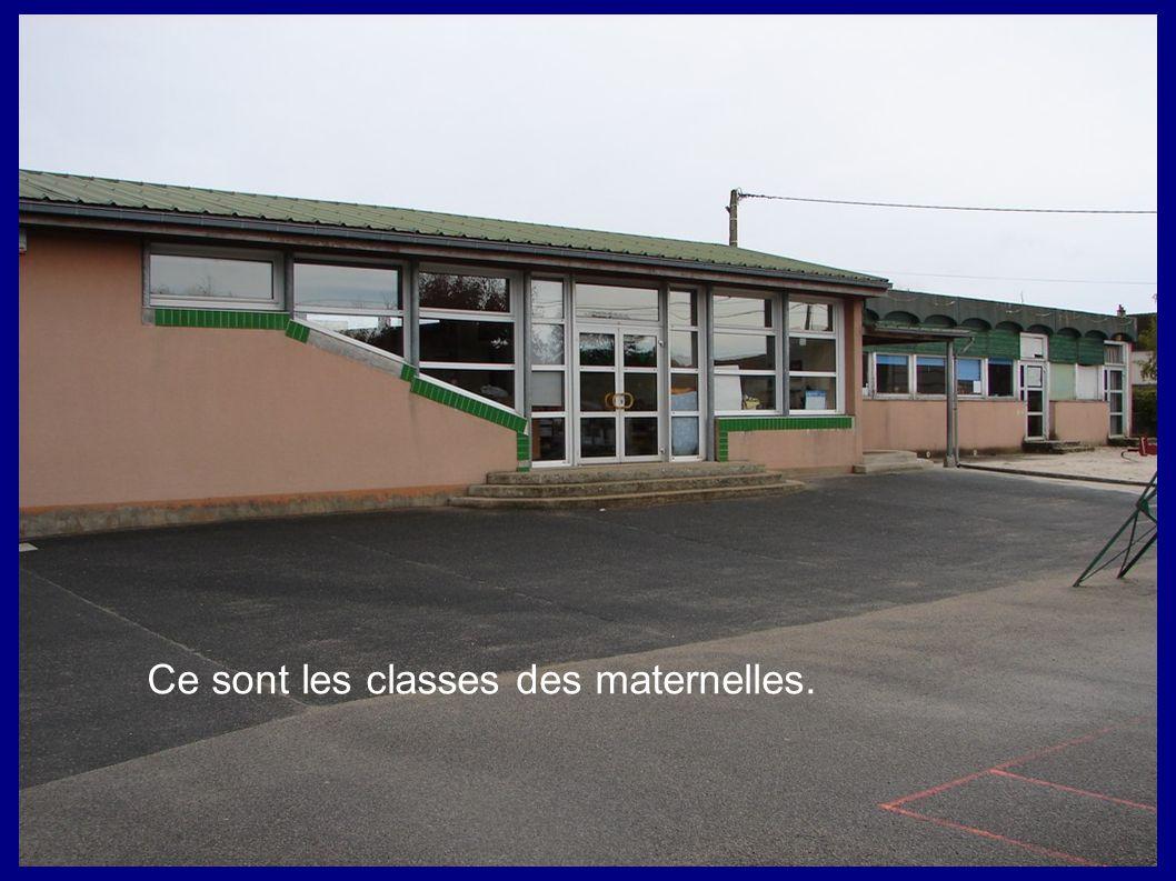 Ce sont les classes des maternelles.