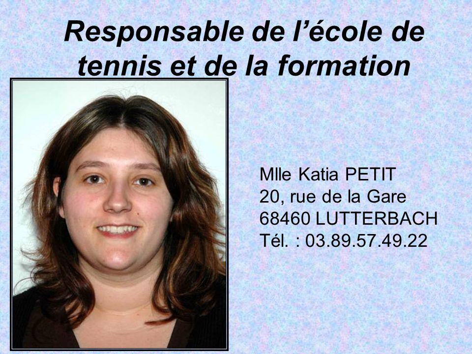 Responsable de l'école de tennis et de la formation
