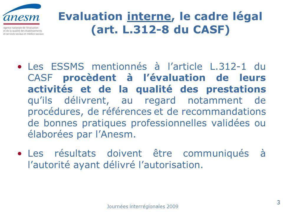 Evaluation interne, le cadre légal (art. L.312-8 du CASF)
