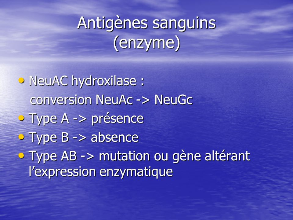 Antigènes sanguins (enzyme)