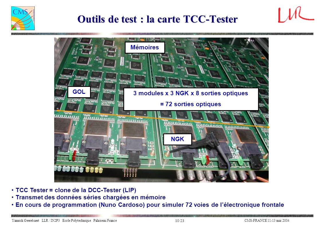 Outils de test : la carte TCC-Tester