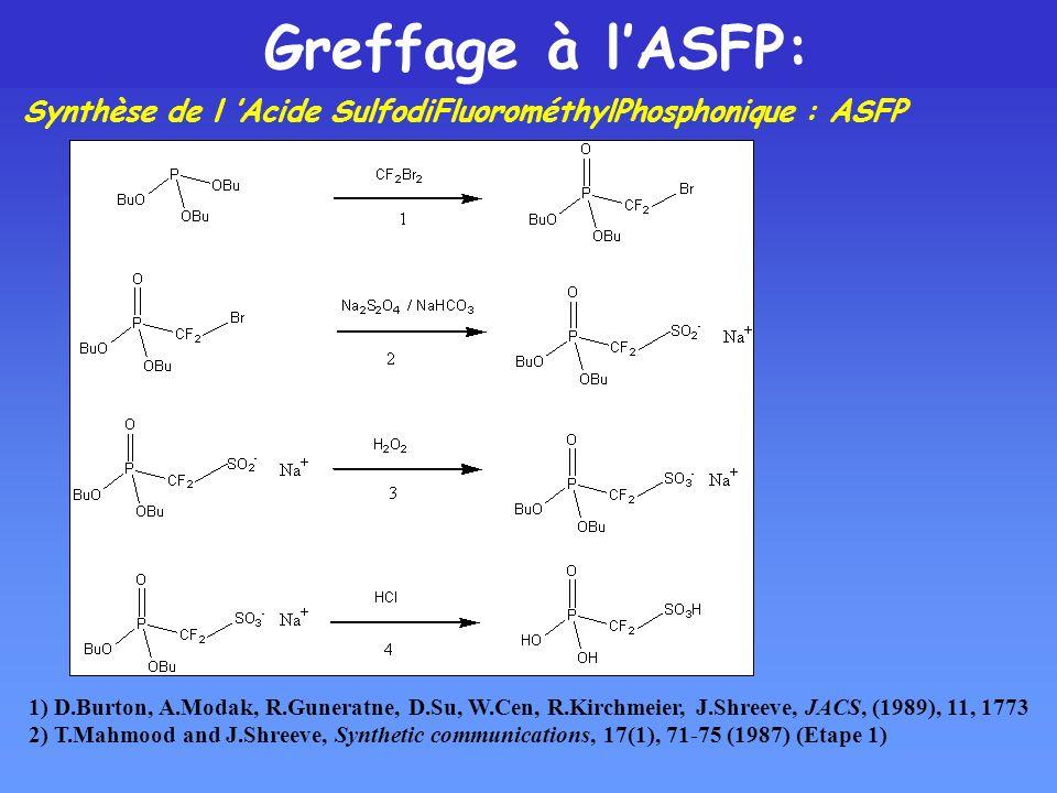 Greffage à l'ASFP: Synthèse de l 'Acide SulfodiFluorométhylPhosphonique : ASFP.