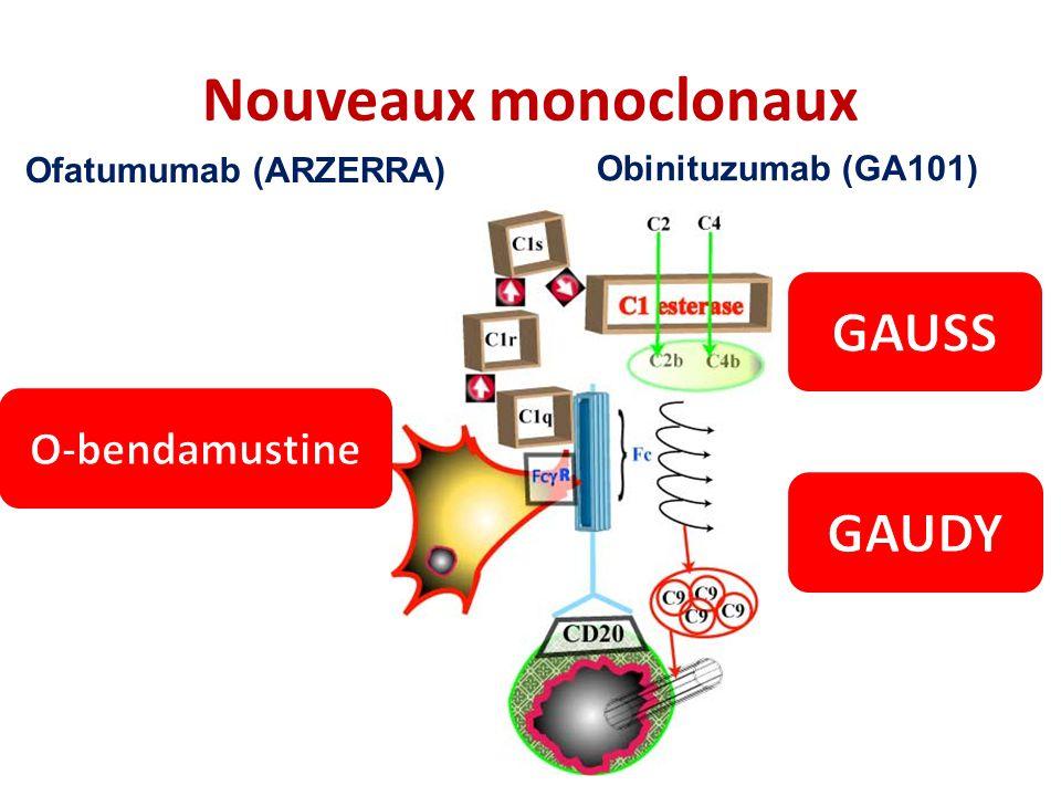 Nouveaux monoclonaux GAUSS GAUDY O-bendamustine Ofatumumab (ARZERRA)
