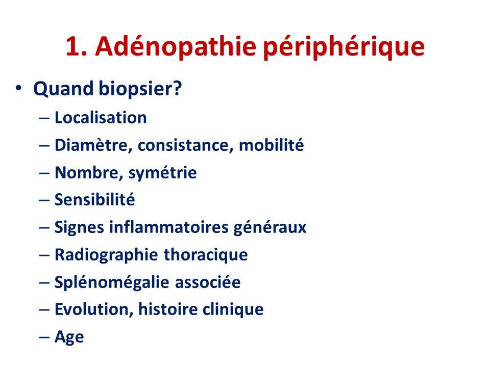 1. Adénopathie périphérique