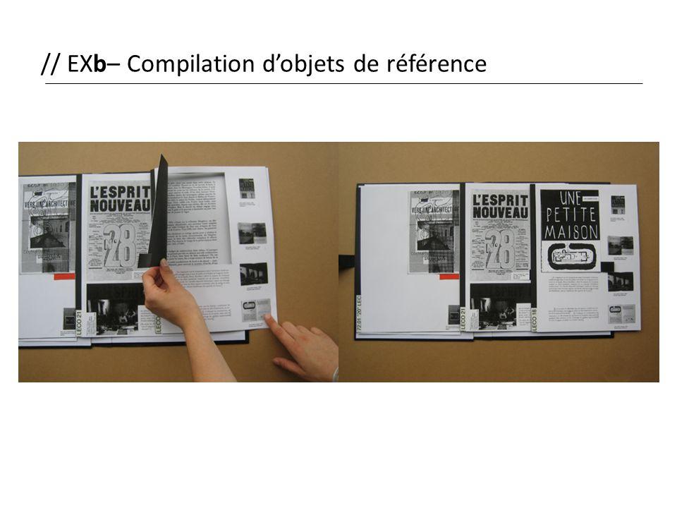 // EXb– Compilation d'objets de référence