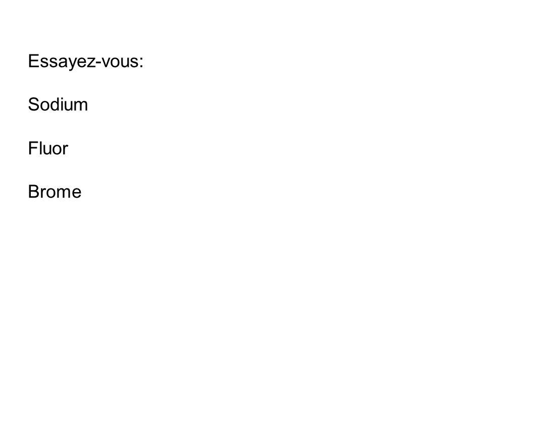 Essayez-vous: Sodium Fluor Brome