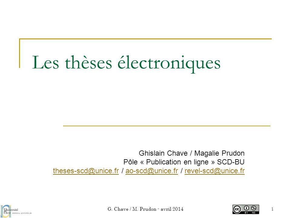 Les thèses électroniques