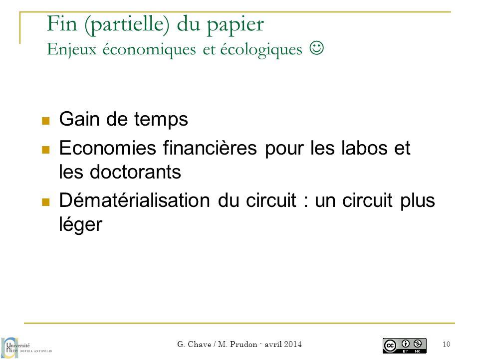 Fin (partielle) du papier Enjeux économiques et écologiques 