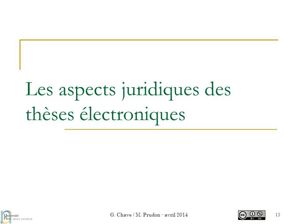 Les aspects juridiques des thèses électroniques