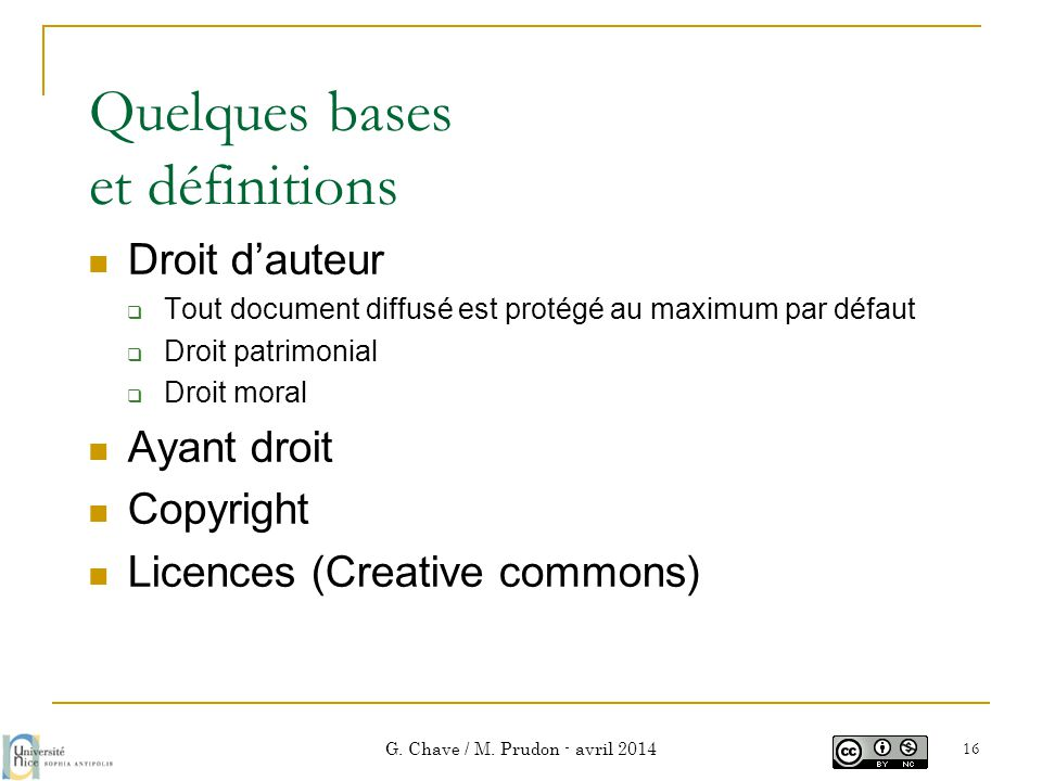 Quelques bases et définitions