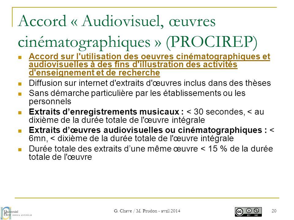 Accord « Audiovisuel, œuvres cinématographiques » (PROCIREP)