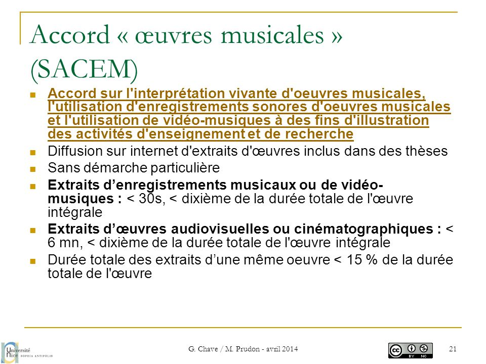 Accord « œuvres musicales » (SACEM)