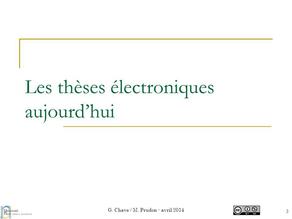 Les thèses électroniques aujourd'hui