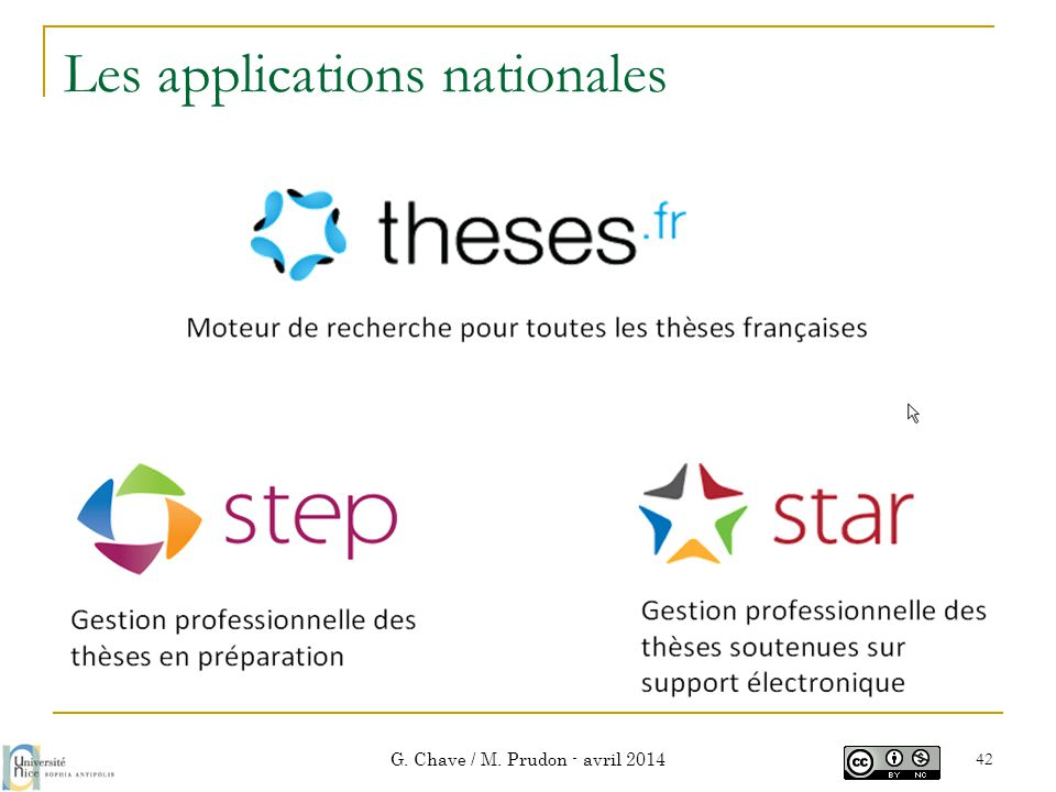 Les applications nationales