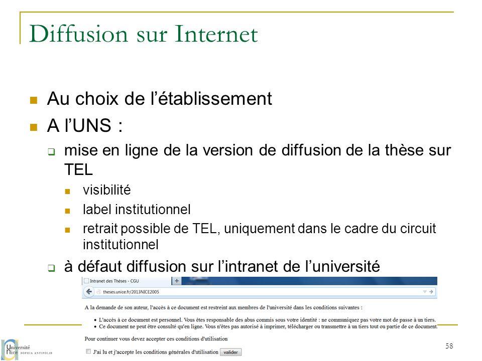Diffusion sur Internet