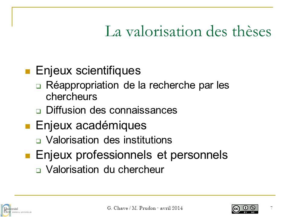 La valorisation des thèses