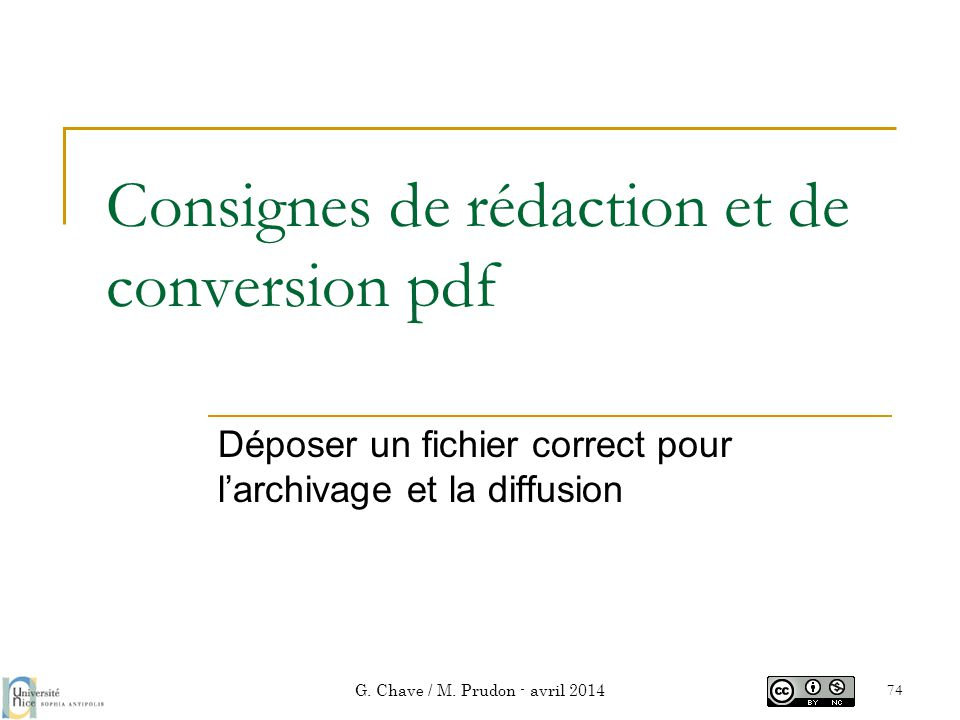 Consignes de rédaction et de conversion pdf