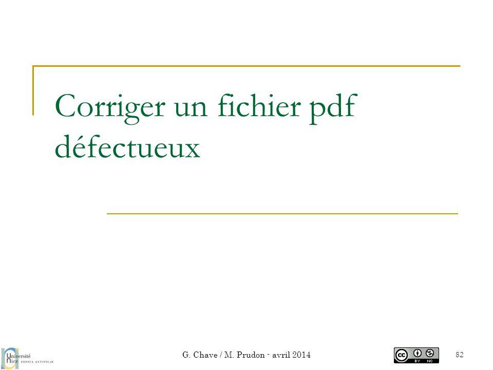 Corriger un fichier pdf défectueux