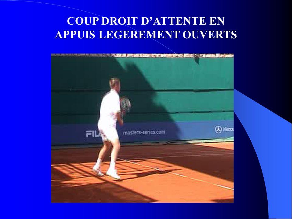 COUP DROIT D'ATTENTE EN APPUIS LEGEREMENT OUVERTS