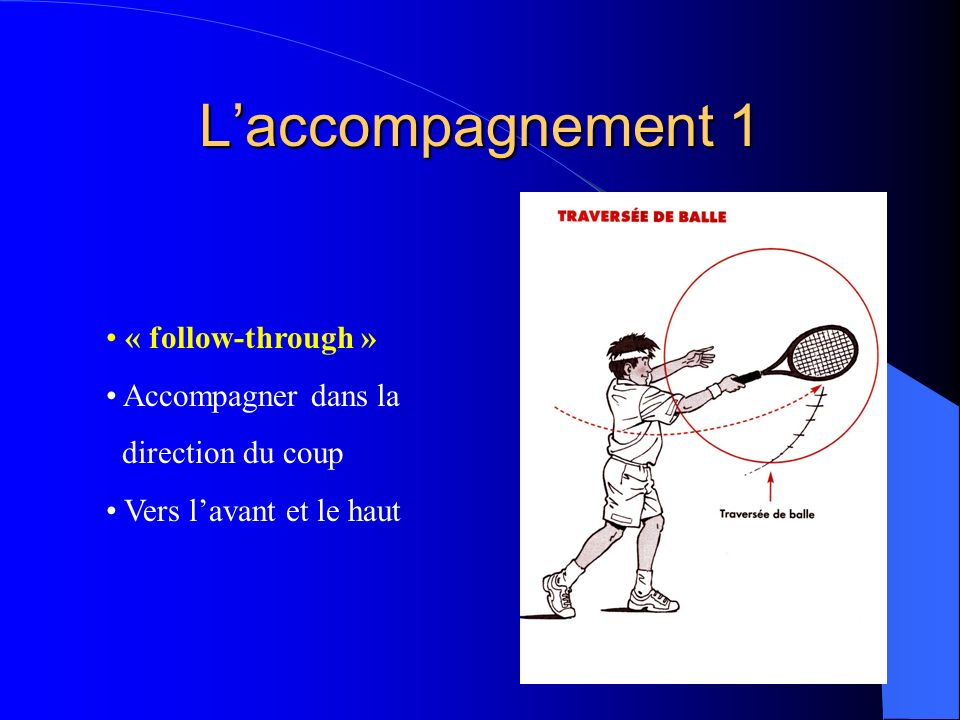 L'accompagnement 1 « follow-through » Accompagner dans la