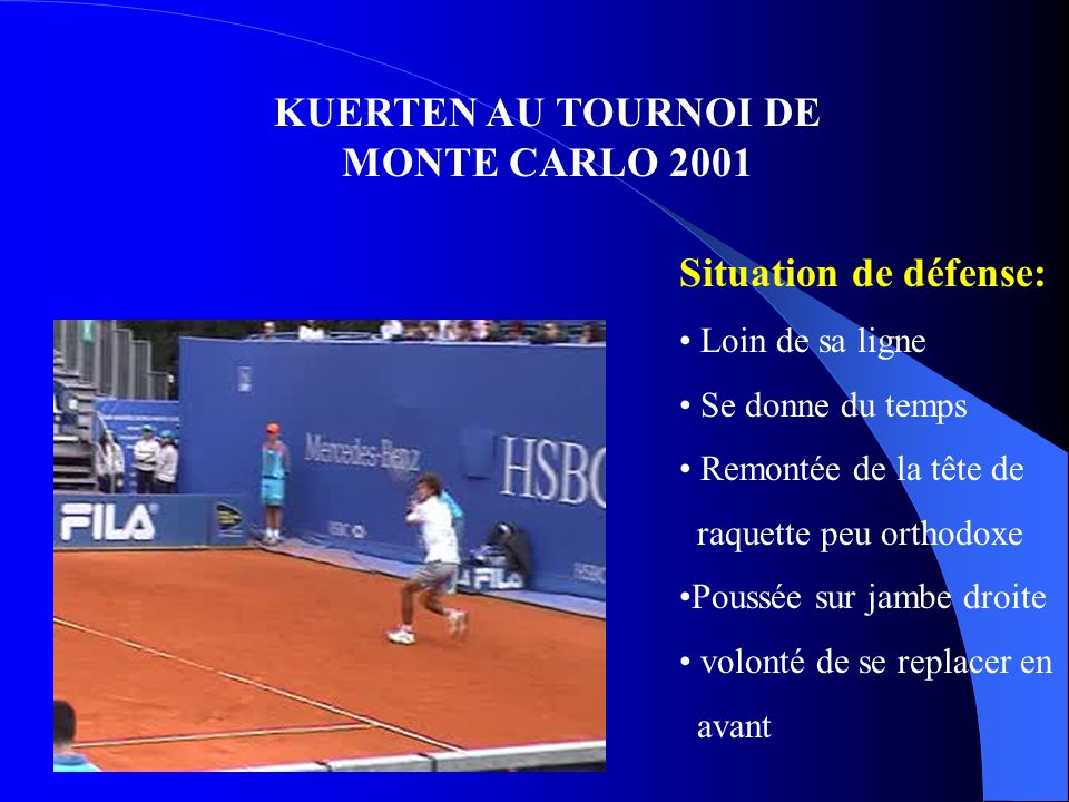 KUERTEN AU TOURNOI DE MONTE CARLO 2001
