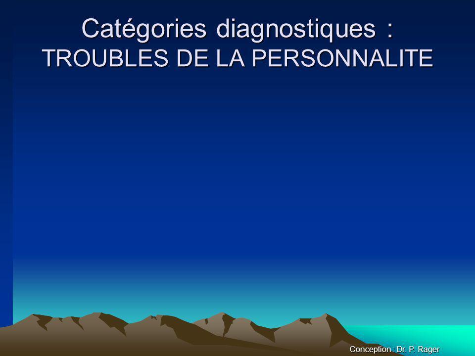 Catégories diagnostiques : TROUBLES DE LA PERSONNALITE