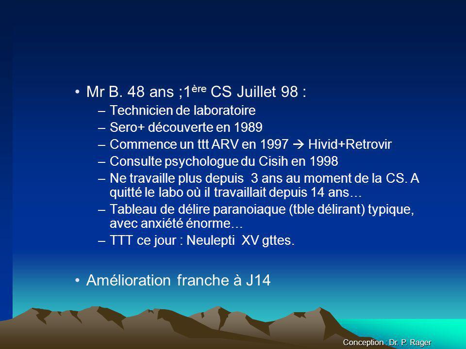 Mr B. 48 ans ;1ère CS Juillet 98 :
