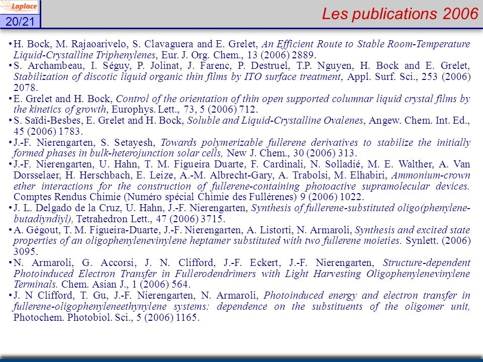 Les publications 2006