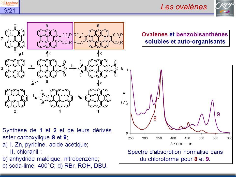 Ovalènes et benzobisanthènes solubles et auto-organisants