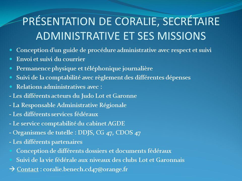 Présentation de Coralie, secrétaire administrative et ses missions
