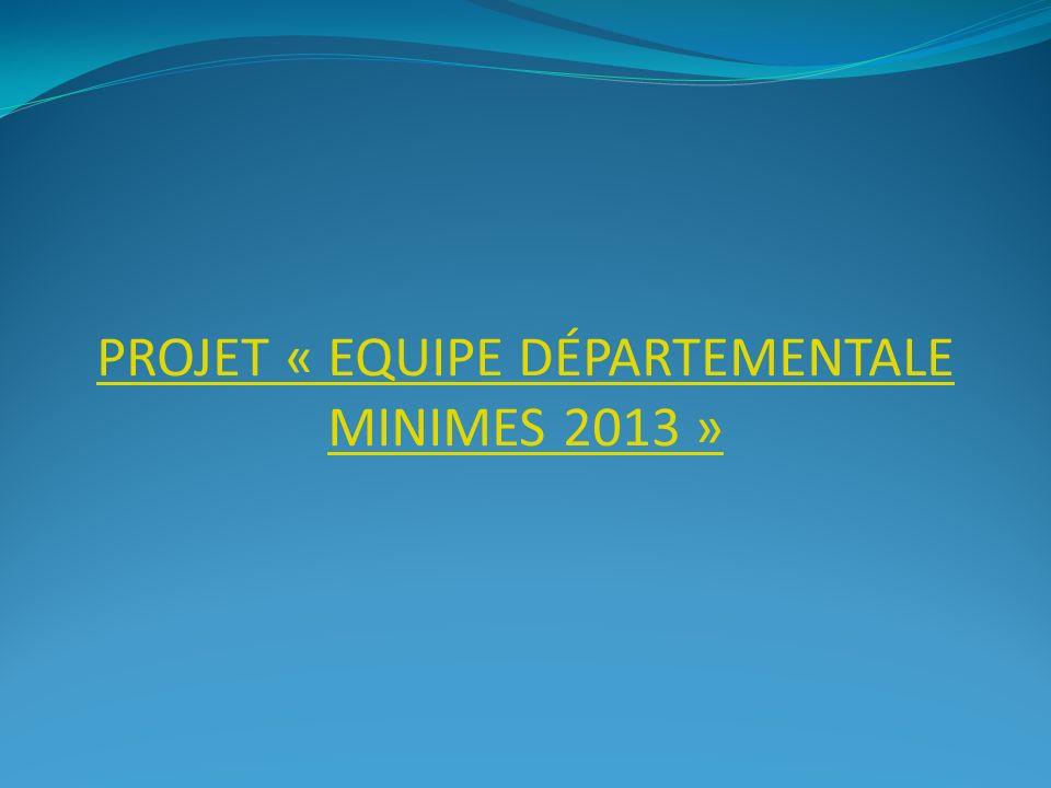 Projet « Equipe départementale minimes 2013 »